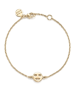 Bing Bang Nyc 14K Yellow Gold Heart Eyes Emoji Bracelet