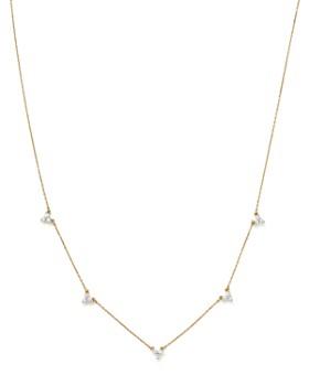 "Adina Reyter - 14K Yellow Gold Diamond Cluster Choker Necklace, 13.5"""