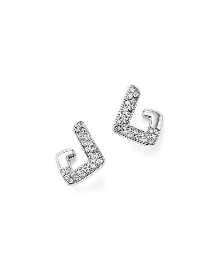 Bloomingdale's - Diamond Geometric Drop Earrings in 14K White Gold, .35 ct. t.w. - 100% Exclusive