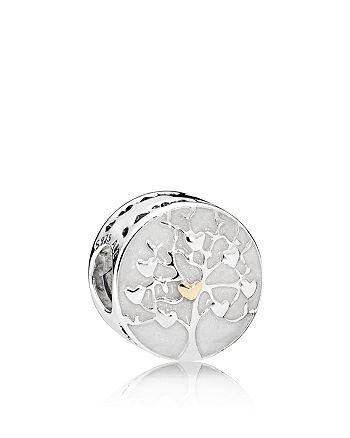 Pandora - Sterling Silver & Enamel Tree of Hearts Charm