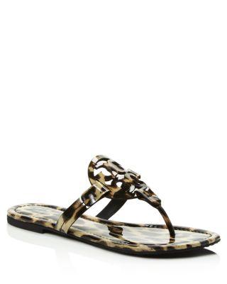 Miller Leopard Print Thong Sandals