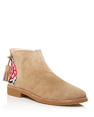 kate spade new york Bellville Embroidered Suede Booties