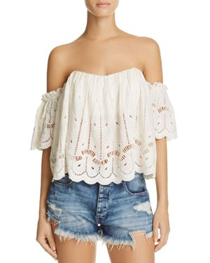 Tularosa Amelia Off-the-Shoulder Lace Top