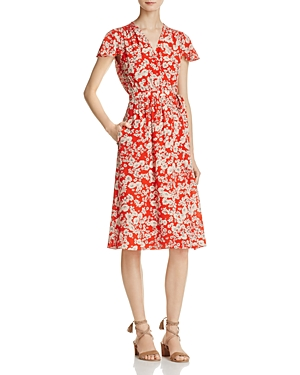 Rebecca Taylor Cherry Blossom Silk Wrap Dress
