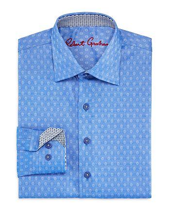 Robert Graham - Boys' Gene Motif Dress Shirt - Big Kid