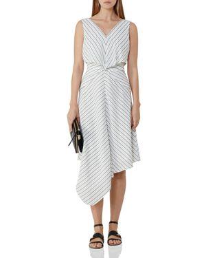 Reiss Rhoni Striped Midi Dress