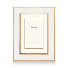 "Siena White Enamel with Gold Frame, 5"" x 7"" - Bloomingdale's_0"