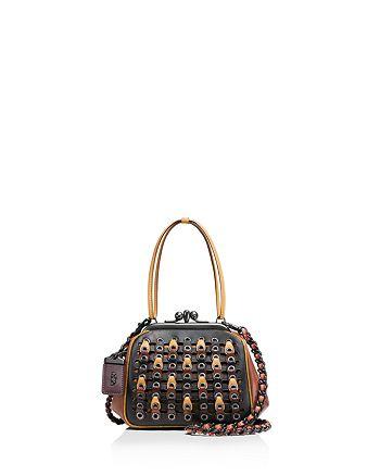 5c5153ae842c COACH Kisslock Frame Bag in Coach Link Glovetanned Leather ...
