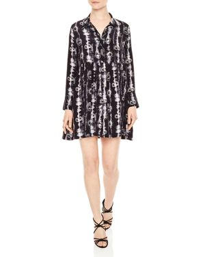 Sandro Protect Printed Silk Dress
