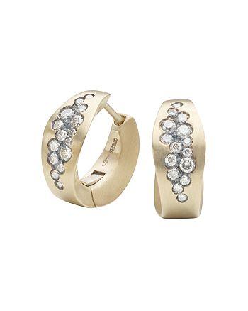 Antonini - Matte 18K White Gold Matera Silvermist Diamond Earrings