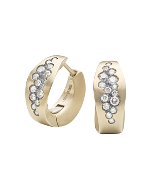 Antonini Matte 18K White Gold Matera Silvermist Diamond Earrings