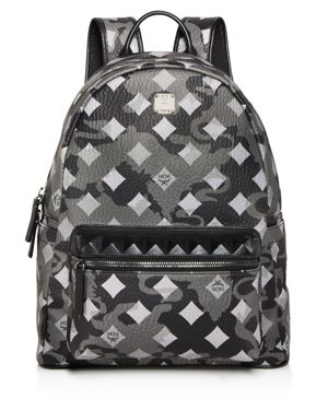 Mcm Stark Munich Lion Camo Print Backpack