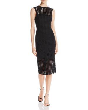 T by Alexander Wang Eyelet Jacquard Midi Dress