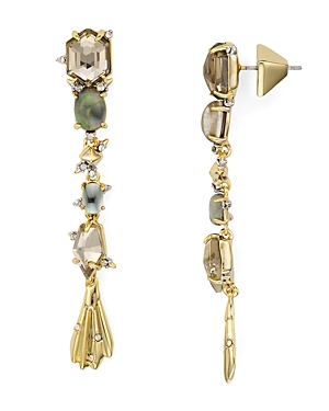 Alexis Bittar Geometric Crystal Drop Earrings