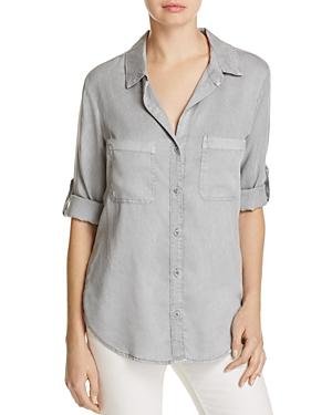 Side Stitch Button Back Shirt