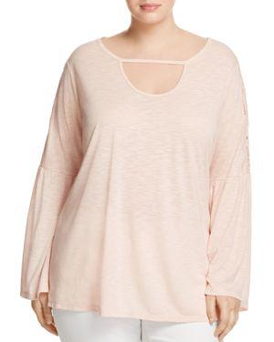 Love Scarlett Plus Lace Bell Sleeve Top