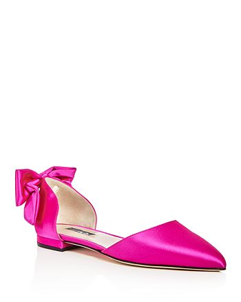 SJP by Sarah Jessica Parker - Women's Awaken Satin d'Orsay Pointed Toe Flats - 100% Exclusive