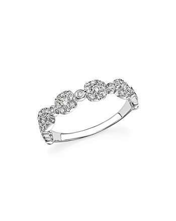 Bloomingdale's - Diamond Micro Pavé Stacking Band in 14K White Gold, .40 ct. t.w. - 100% Exclusive