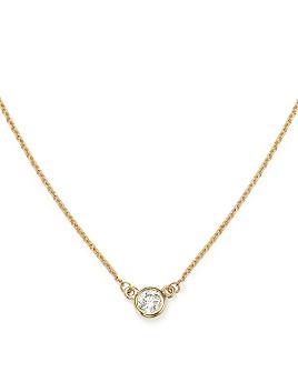 Bloomingdale's - Diamond Bezel Set Pendant Necklace in 14K Yellow Gold, .15 ct. t.w. - 100% Exclusive