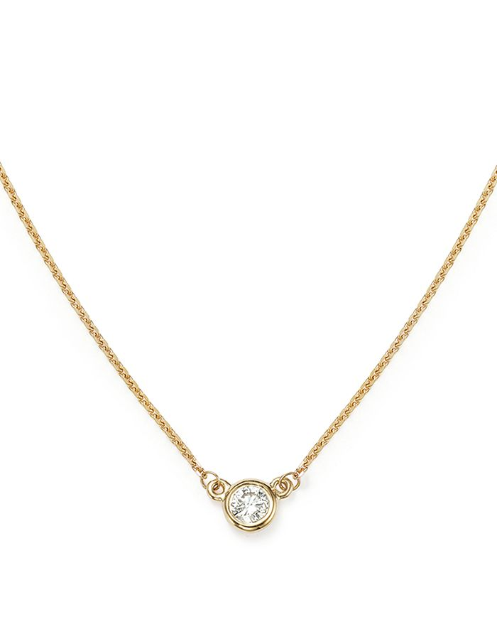 Bloomingdale's - Diamond Bezel Set Pendant Necklace in 14K Yellow Gold, .15 ct. t.w. - 100% Exclusive