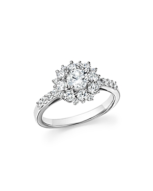 Click here for Diamond Halo Engagement Ring in 14K White Gold  1.... prices