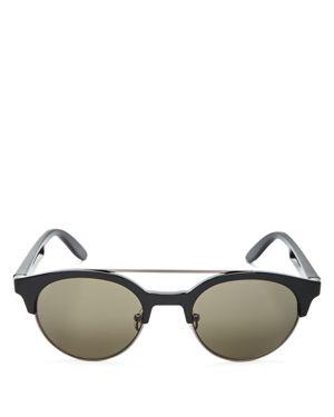 Carrera Round Double Bridge Sunglasses, 50mm