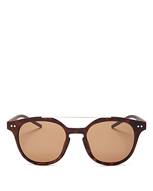 Polaroid Polarized Mirrored Brow Bar Round Sunglasses, 51mm
