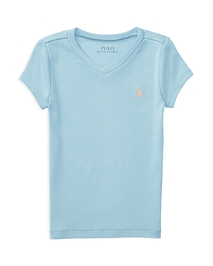 Ralph Lauren Childrenswear Girls' V Neck Tee - Little Kid