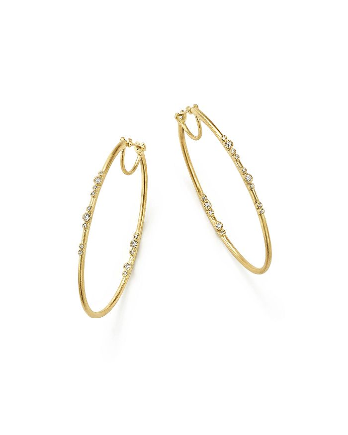 Armenta - 18K Yellow Gold Sueno Diamond Eternity Hoop Earrings