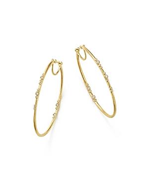 Armenta 18K Yellow Gold Sueno Diamond Eternity Hoop Earrings