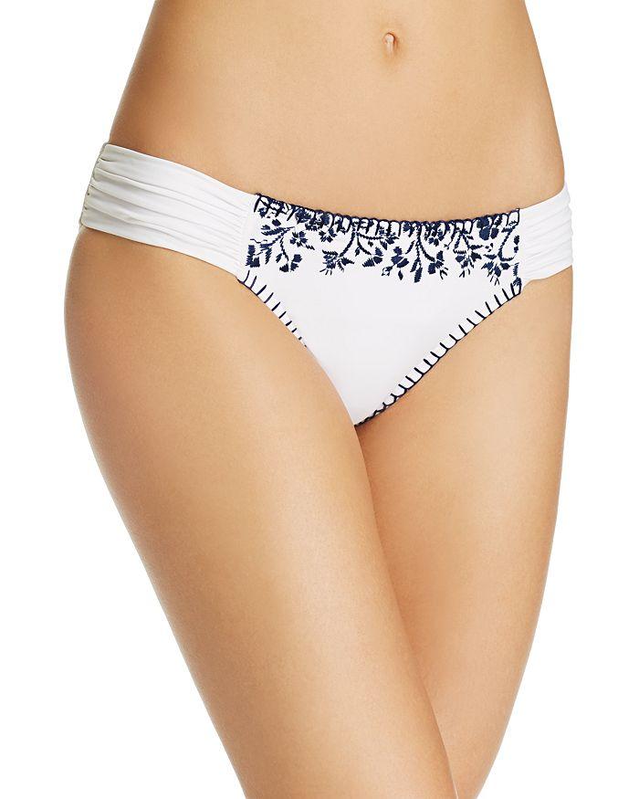 Lucky Brand Stitch In Time Side Sash Bikini Bottom In White