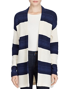 Lauren Ralph Lauren Open Front Stripe Sweater