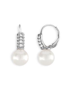 Majorica Simulated Pearl Drop Leverback Earrings