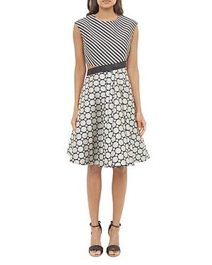 Ted Baker Mixed Print Cutout Dress