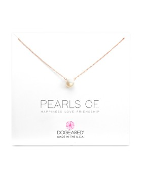 Dogeared - Pearls of Happiness, Love, Friendship Necklace, 16""