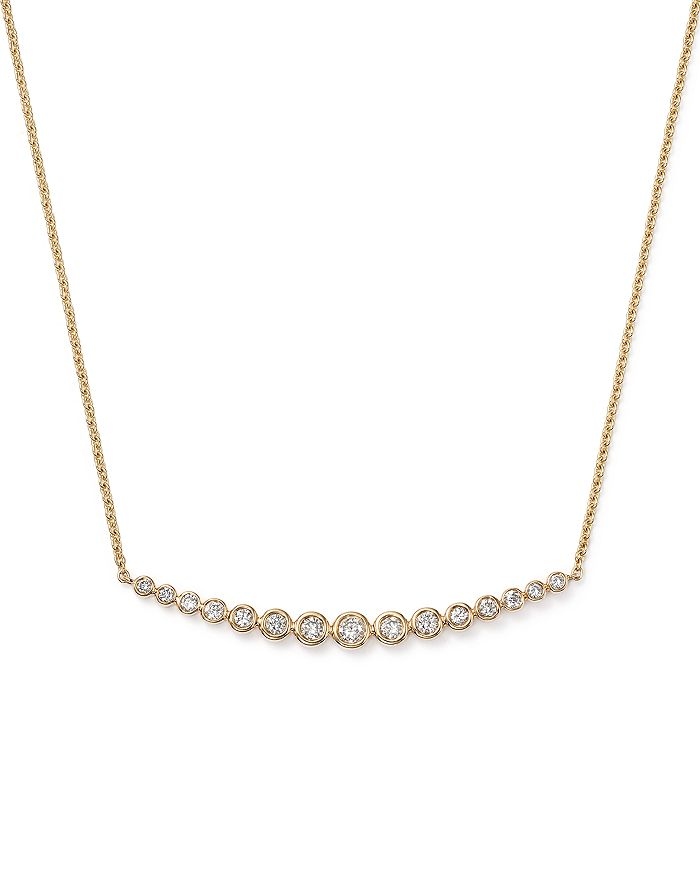 Bloomingdale's - Graduated Bar Necklace in 14K Yellow Gold, .50 ct. t.w. - 100% Exclusive