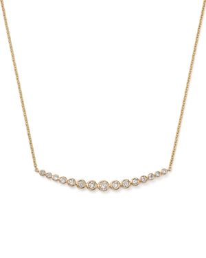 Graduated Bar Pendant Necklace in 14K Yellow Gold, .50 ct. t.w. - 100% Exclusive