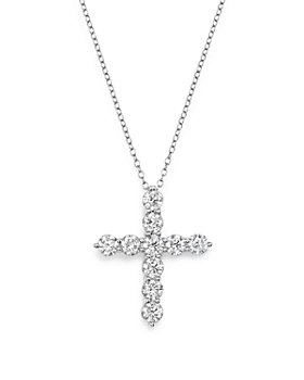 Bloomingdale's - Diamond Cross Pendant Necklace in 14K White Gold, 2.0 ct. t.w. - 100% Exclusive