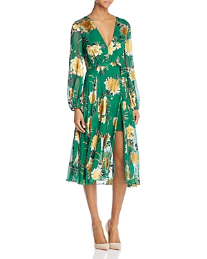 Alice + Olivia Coco Faux-Wrap Dress