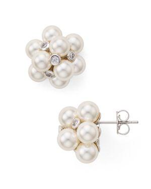 Nadri Soleil Cluster Stud Earrings