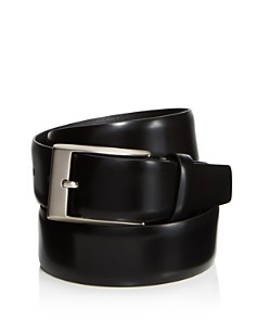 Canali Shiny Smooth Leather Belt - Bloomingdale's_0