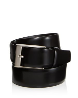 Canali Shiny Smooth Leather Belt