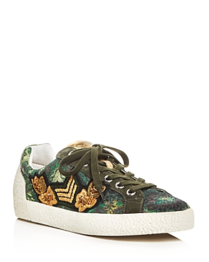 Ash Nak Arms Embellished Lace Up Sneakers