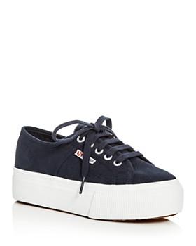 5c4fa6b0a4b Superga - Women s Linea Lace Up Platform Sneakers ...