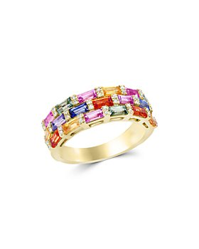 Bloomingdale's - Multicolor Sapphire and Diamond Ring in 14K Yellow Gold - 100% Exclusive