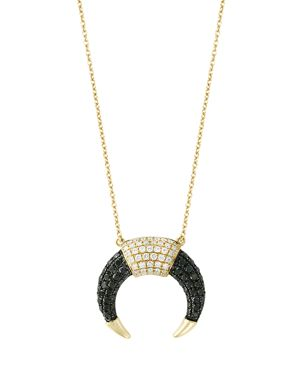 Black and White Diamond Pendant Necklace in 14K Yellow Gold, 18 - 100% Exclusive