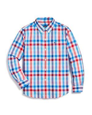 Vineyard Vines Boys' Check Button-Down Shirt - Big Kid