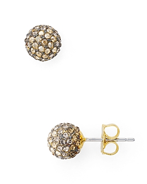 Nadri Pave Ball Stud Earrings
