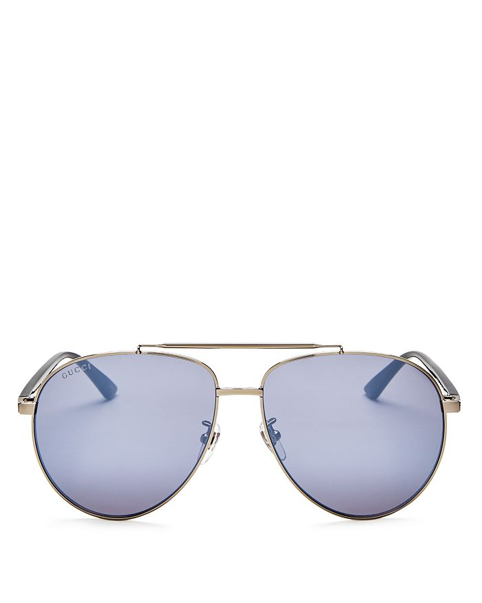 5ec804cb00d9 Gucci Men's Brow Bar Aviator Sunglasses, 64mm | Bloomingdale's