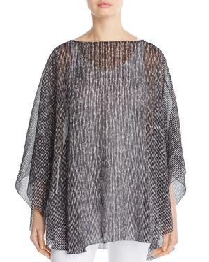 Eileen Fisher Silk Print Poncho - 100% Exclusive